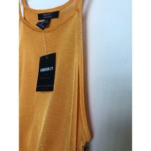 Forever 21 Tops - Sexy Gold Sheer Tank